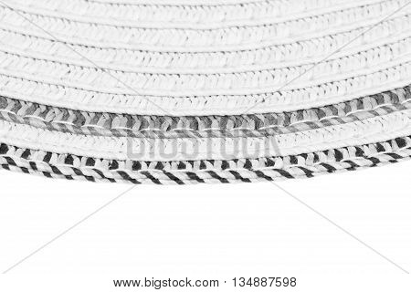 Woven Straw Background Or Texture And Space For Text. Gray Color