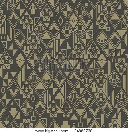Abstract geometric seamless pattern shapes arranged randomly . Vector background .