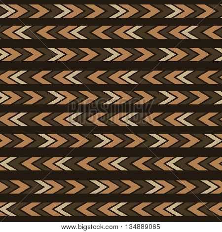 Seamless ethnic tribal pattern with aztec motives.Vector seamless background with folk elements .