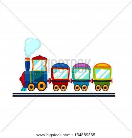 Train flat  icon illustration . Vector cartoon picture