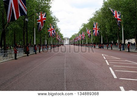 Scene of The Mall London during The Trooping of The Colour London england