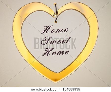 Home Sweet Home candle votive with candlelight
