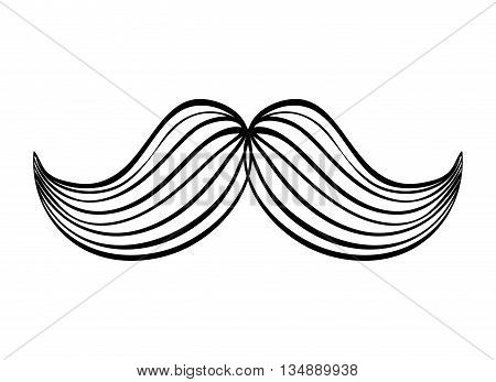 barber concept represented by male mustache illuminate icon over flat and isolated background