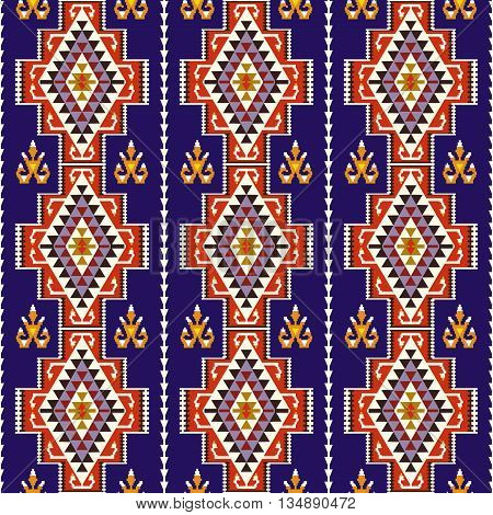 Abstract seamless ethnic pattern . Vector tribal background .