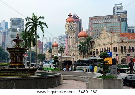 Kuala Lumpur/Malaysia - September 2012: Sultan Abdul Samad palace in Kuala Lumpur, Malaysia.