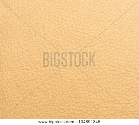 Yellow leather macro shot texture for background