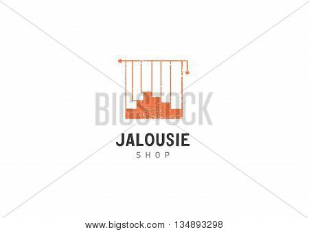 Creative development jalousie shop logo orange color