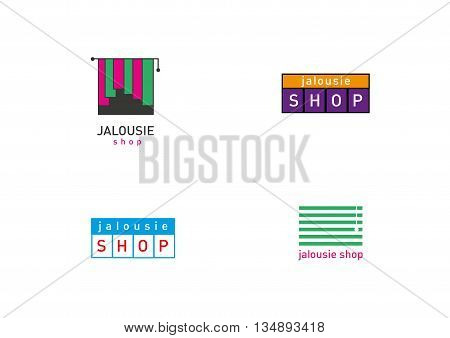 Creative development jalousie store trend logos series