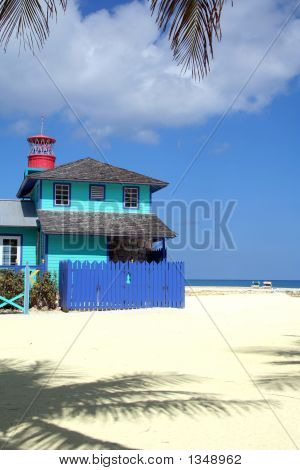 Colorful House On A Tropical Beach