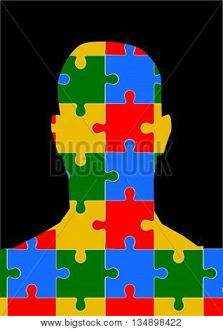 Profile picture - puzzle - head silhouette