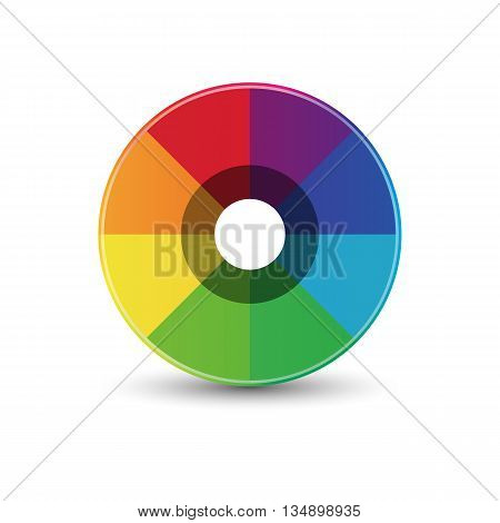 Abstract rainbow circle icon logo template design, Vector illustration eps10