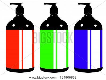 Flat style medical pharmaceutical bottles glasses containers scales icon set. Medicine pharmacy collection. set of illustrations in a modern style flat