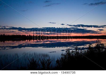 Loucura Lago pôr do sol