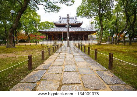 Hakata Japan - November 28 2014: Shofukuji has the distinction of being the first Zen temple constructed in Japan.