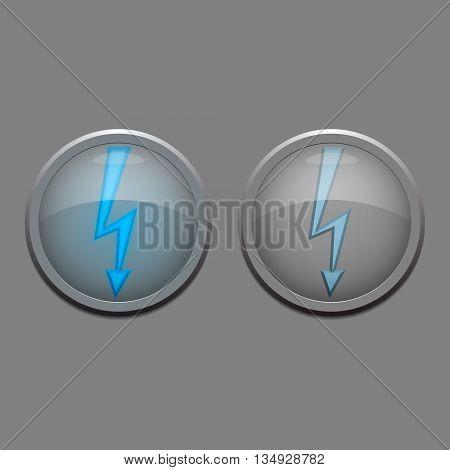 Two vector danger lights - electric danger