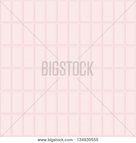 Seamless vector background with pink volume rectangles. Modern volume geometric pattern with repeating shapes
