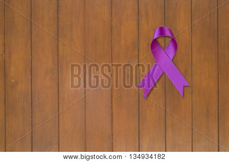 Purple Ribbon. Pancreatic Cancer awareness. healthcare and medicine concept.