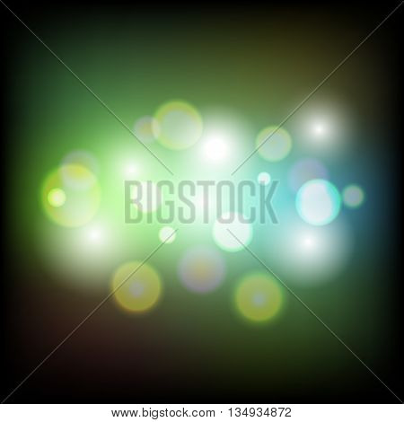 Colorful abstract bokeh light background, stock vector
