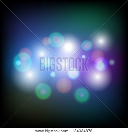 Colorful abstract background with bokeh effect, stock vector