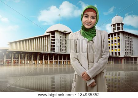 Beautiful Muslim Woman Smiling