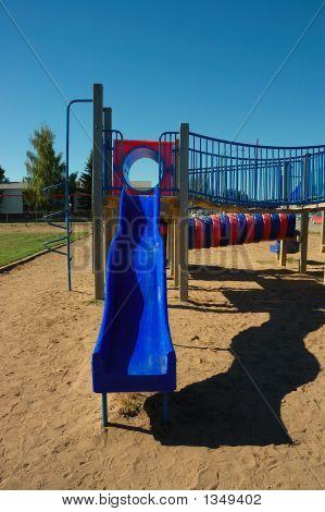 Blue Slide On Playground