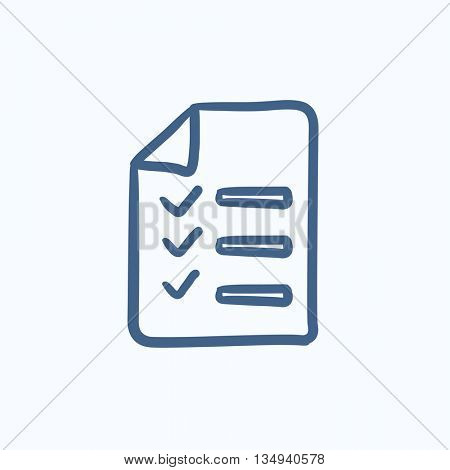 Shopping list vector sketch icon isolated on background. Hand drawn Shopping list icon. Shopping list sketch icon for infographic, website or app.
