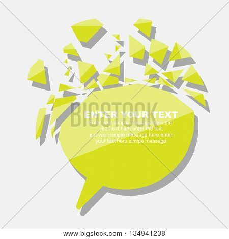 CRUSHED ELEMENTE TEMPLATE MESSAGE STICKER THIRD EDITION YELLOW