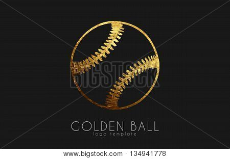baseball game design. baseball ball. golden ball. sport logo. baseball logo