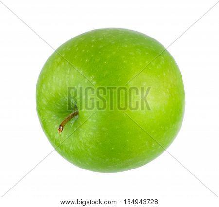 ripe green apple isolat on white background