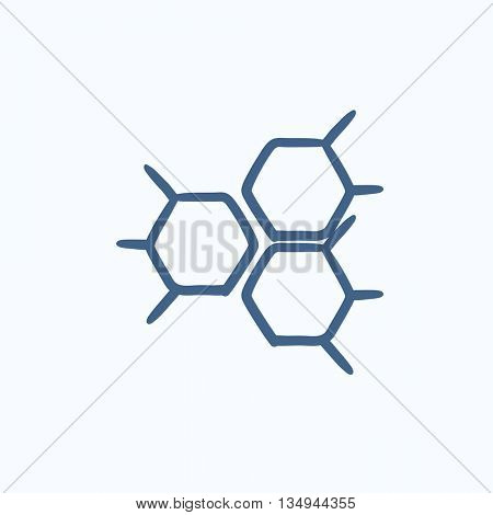 Chemical formula vector sketch icon isolated on background. Hand drawn Chemical formula icon. Chemical formula sketch icon for infographic, website or app.