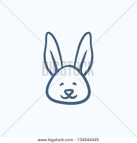 Easter bunny vector sketch icon isolated on background. Hand drawn Easter bunny icon. Easter bunny sketch icon for infographic, website or app.