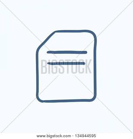 Document vector sketch icon isolated on background. Hand drawn Document icon. Document sketch icon for infographic, website or app.