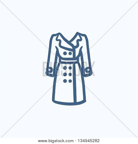 Coat vector sketch icon isolated on background. Hand drawn Coat icon. Coat sketch icon for infographic, website or app.