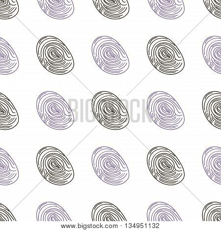 Pattern Fingerprints Dactyloscopy Vector Icon Of Human Finger Print