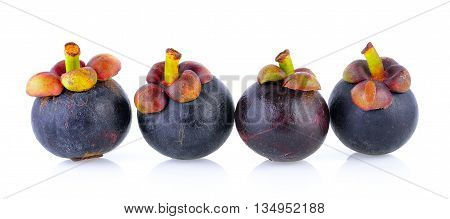 fresh mangosteen isolated on a white background