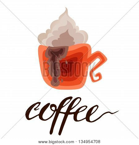 Coffee is always a good idea. Life begins after coffee. Every day is a coffee day. Lettering on coffee cup shape. Modern calligraphy style quote about coffee.