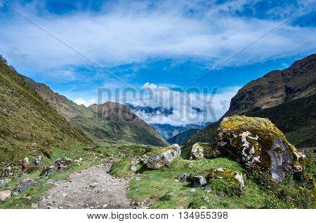landscape in Andes. Salkantay Trekking Peru. South America