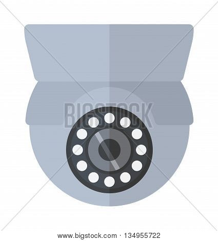 Web camera vector illustration on white. Web camera isolated. Internet camera vector icon illustration. Web camera isolated vector. Online web camera silhouette