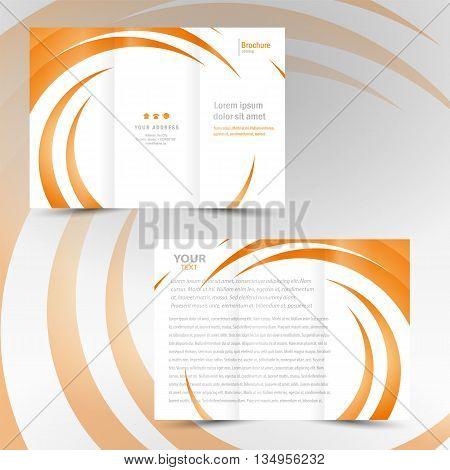 design template brochure trifold leaflet geometric spiral element color stripes circle