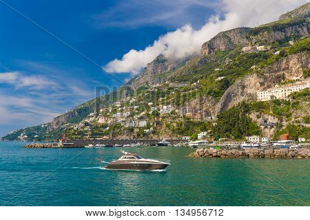 Amazing Generic View On Amalfi Coast From Town Of Amalfi, Campania Region, Italy