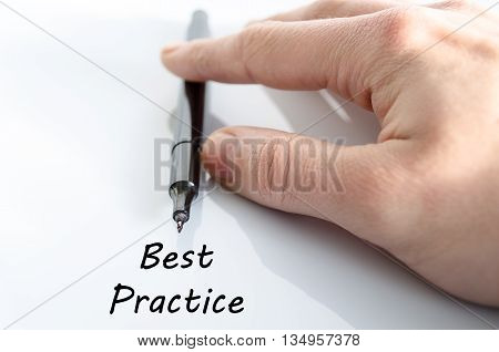 Best practice text concept isolated over white background