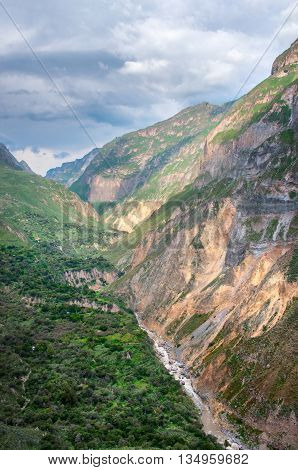 View of Canyon Colca Peru. South America