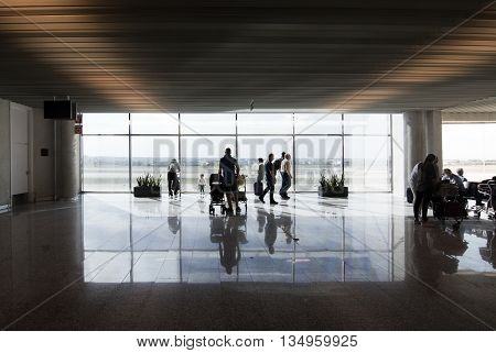 Airport Departure Gate Window