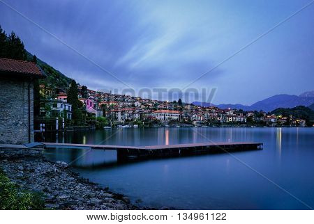 Lago di Como (Lake Como) Ossuccio at blue hour