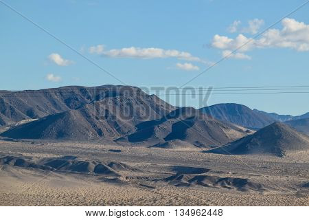 Viewing the Sierra Nevada Mountains from the Desert of Nevada
