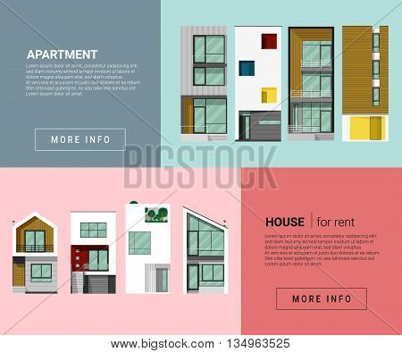 Residential banner for web design , vector , illustration
