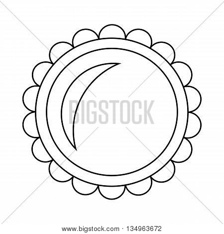 Pie icon in outline style on a white background