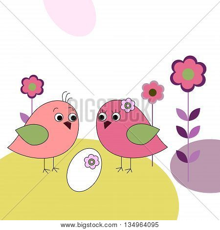 The family of a birds and eggs