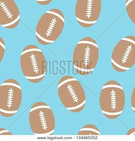 Seamless pattern of the leather balls for rugby