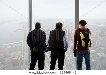 People In One World Observatory In New York City
